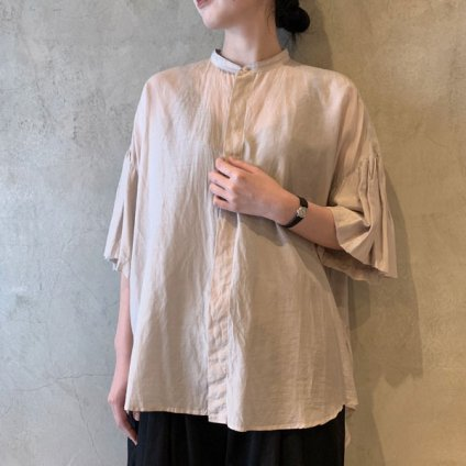 <img class='new_mark_img1' src='https://img.shop-pro.jp/img/new/icons13.gif' style='border:none;display:inline;margin:0px;padding:0px;width:auto;' />suzuki takayuki balloon-sleeve blouse(スズキタカユキ バルーンスリーブブラウス)Ice gray