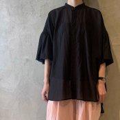 suzuki takayuki balloon-sleeve blouse(スズキタカユキ バルーンスリーブブラウス)Black