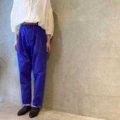 ikkuna/suzuki takayuki high-waisted pants(イクナ/スズキタカユキ  ハイウェスティッドパンツ)Ultramarine Blue