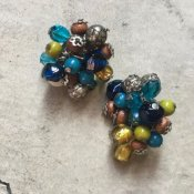 1960's Glass Bead Earrings(1960年代 ガラスビーズ イヤリング)