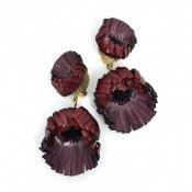 Cilea PARIS Bordeaux Flower Swing Earrings(シレアパリ ボルドー フラワー スイングイヤリング)