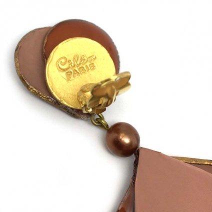 Cilea PARIS Brown Swing Earrings(シレアパリ ブラウン スイングイヤリング)