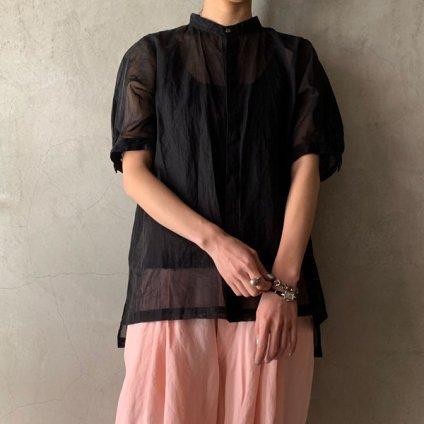 suzuki takayuki organdy shirt(スズキタカユキ オーガンジーシャツ)Black