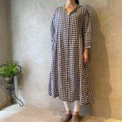 ikkuna/suzuki takayuki shirt dress (イクナ/スズキタカユキ シャツドレス)Checkered