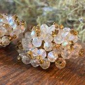 1960's AB Cut Beads Earrings(1960年代  オーロラ加工カットビーズ イヤリング)