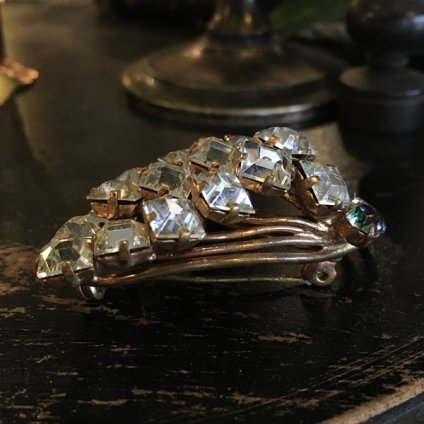 1940's Iris Glass Brooch(1940年代 アイリス ガラス ブローチ)
