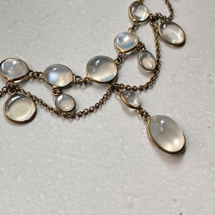 1910~20's Silver Moon Stone Necklace(1910〜20年代 シルバー ムーンストーンネックレス)