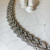 1930's Art Deco Paste Glass Bracelet(1930's アールデコ ペーストガラス ブレスレット)