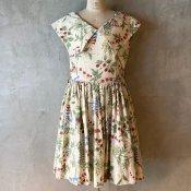 1960's Botanical Pattern Dress(1960年代 ボタニカル柄ワンピース)