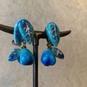 1960's Ceramic leaf Earrings(1960年代   陶器製 リーフイヤリング)