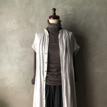 suzuki takayuki sleeveless shirt dress(スズキタカユキ スリーブレスシャツドレス)Nude