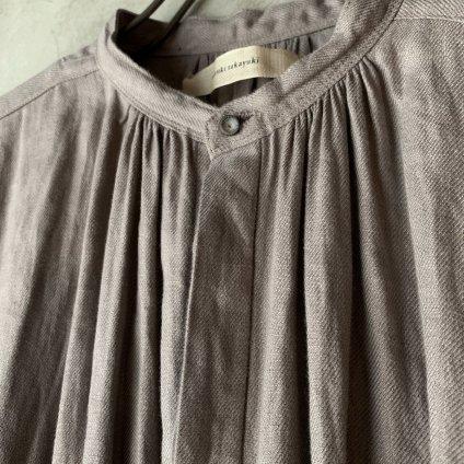 <img class='new_mark_img1' src='https://img.shop-pro.jp/img/new/icons13.gif' style='border:none;display:inline;margin:0px;padding:0px;width:auto;' />【予約販売】suzuki takayuki shirt dress(スズキタカユキ シャツドレス)Grey