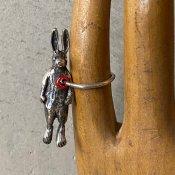 momocreatura Rabbit Hole In Heart Ring Silver(モモクリアチュラ うさぎ リング)シルバー