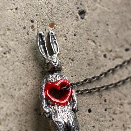 Stolen Heart Bunny Necklace Silver(モモクリアチュラ うさぎ ネックレス)50cm+10cm