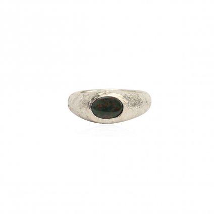 momocreatura Bloodstone Signet Ring Small(モモクリアチュラ ブラッドストーン シグネットリング スモール)