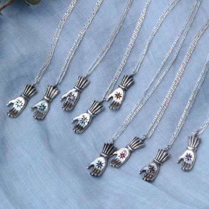 Hand Necklace Silver Smoky Quartz(モモクリアチュラ ハンド ネックレス シルバー スモーキークォーツ)