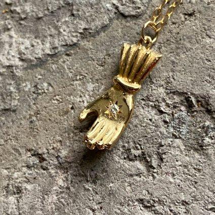 Hand Necklace Gold Diamond (モモクリアチュラ ハンド ネックレス ゴールド ダイヤモンド)