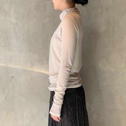 suzuki takayuki turtle-neck t-shirt (スズキタカユキ タートルネック Tシャツ)Ice Grey