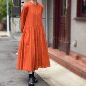 ikkuna/suzuki takayuki balloon-sleeve dress(イクナ/スズキタカユキ バルーンスリーブドレス)Autumn Leaf