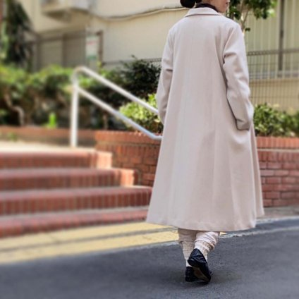 <img class='new_mark_img1' src='https://img.shop-pro.jp/img/new/icons13.gif' style='border:none;display:inline;margin:0px;padding:0px;width:auto;' />ikkuna/suzuki takayuki shawl collar coat(イクナスズキタカユキ ショールカラーコート)Nude