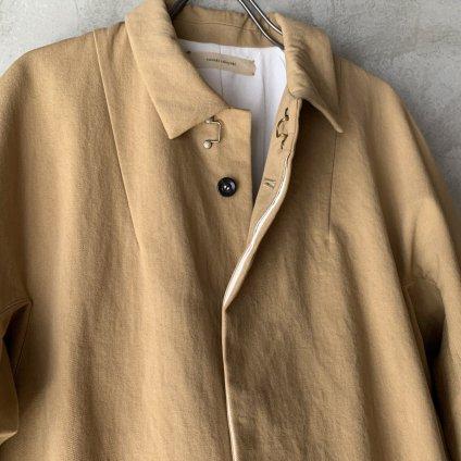 suzuki takayuki stand-fall-collar coat �(スズキタカユキ スタンドフォールカラーコート�)Beige/Unisex