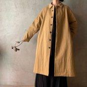 <img class='new_mark_img1' src='https://img.shop-pro.jp/img/new/icons13.gif' style='border:none;display:inline;margin:0px;padding:0px;width:auto;' />suzuki takayuki stand-fall-collar coat �(スズキタカユキ スタンドフォールカラーコート�)Beige/Unisex