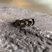 【期間限定販売】momocreatura Skull Fede Ring Silver×9KYG(スカル フェデリング シルバー×9K金無垢)