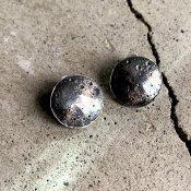 【期間限定販売】momocreatura Large Moon Disc Earrings(ラージムーン ピアス 燻しシルバー)