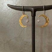 【期間限定販売】momocreatura  Crescent Moon×Star Earrings(三日月×スター ピアス ゴールド×シルバー)