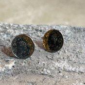 【期間限定販売】momocreatura Moon Disc Earrings(ムーンピアス 燻しシルバー×ゴールド)