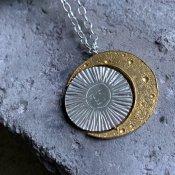 【期間限定販売】momocreatura Large Crescent Moon&Sun Necklace(三日月×太陽 ネックレス シルバー×ゴールド)