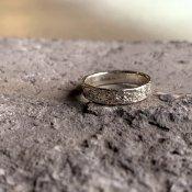 【期間限定販売】momocreatura Moon Crater Ring 4mm(クレーターリング シルバー 4mm)