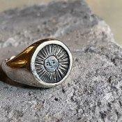 【期間限定販売】momocreatura Sun Signet Ring(太陽シグネットリング 燻しシルバー)