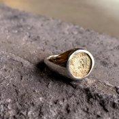 【期間限定販売】momocreatura Moon Signet Ring 9KYG×Silver(月シグネットリング 9K金無垢×シルバー)