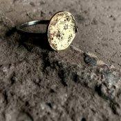 【期間限定販売】momocreatura Moon Disc Ring Silver×9KYG×Diamond(ムーンディスクリング シルバー×9K金無垢×ダイアモンド)