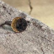 【期間限定販売】momocreatura Moon Disc Ring(ムーンディスクリング ゴールド×燻しシルバー)