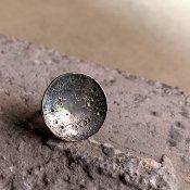 【期間限定販売】momocreatura Large Moon Disc Ring (ラージムーンリング 燻しシルバー)