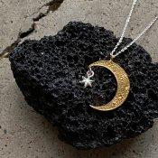 【期間限定販売】momocreatura Crescent Moon×Star Necklace(三日月×スター ネックレス ゴールド×シルバー)