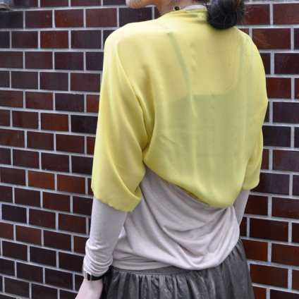 Dolman Sleeves Cut and Sew / Mustard (ドルマンスリーブ カットソー)