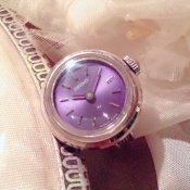 SEIKO RINGWATCH (セイコー リングウォッチ) 紫文字盤