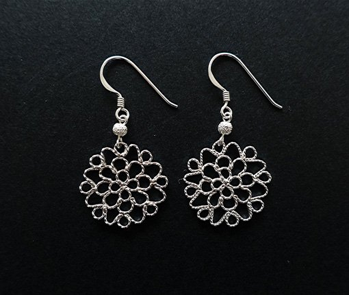 Lace flower/ピアス/CRAFT kikuno