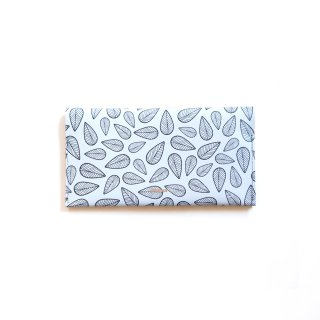Wallet L / Leaves Grey