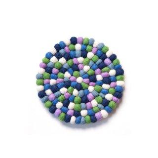 フェルト鍋敷き Purple Green