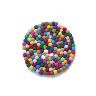 フェルト鍋敷き Deep Colorful