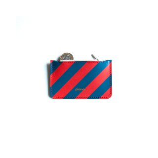 コインケース -Stripes Red & Blue-
