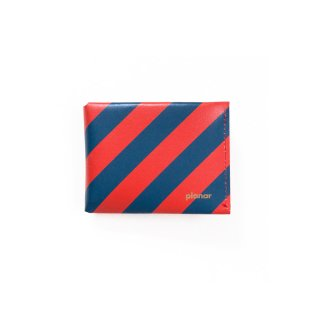 Wallet M -Red & Blue Stripes-