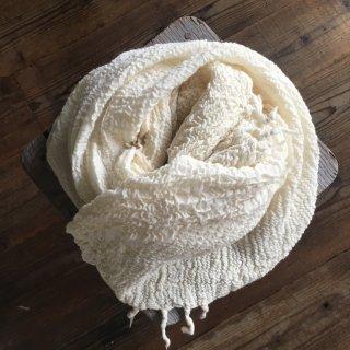 手つむぎ・手織りのウールストール