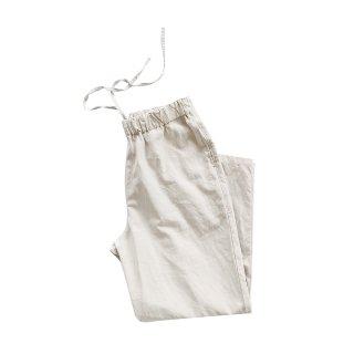 jiji/ 綿麻シルクのイージーパンツ/ SMOKEY WHITE