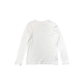 jiji / 吊り編みロングスリーブカットソー / WHITE