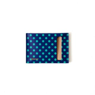 Card Case S -Blue and Green Dots-